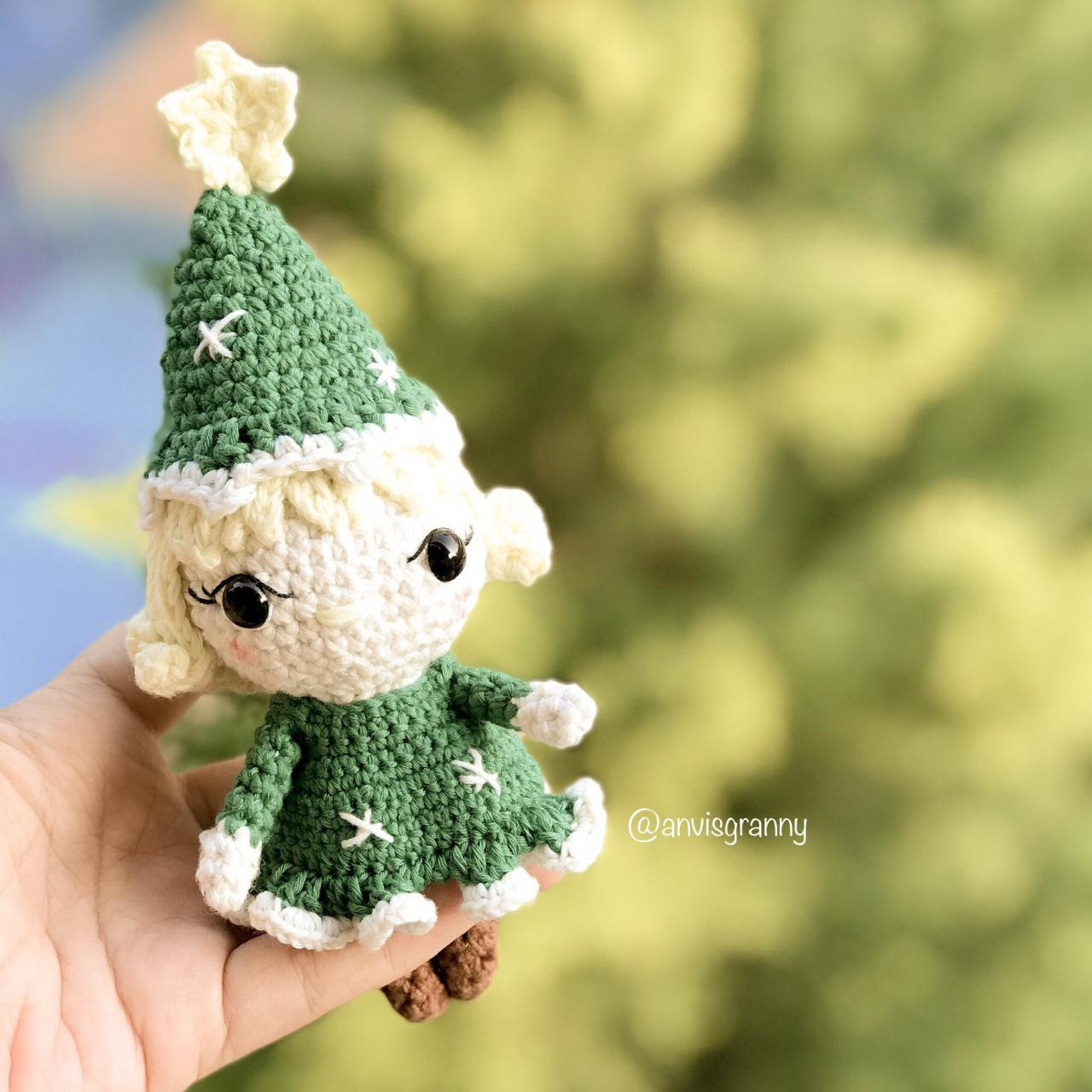Amigurumi Pattern - Handmade DIY ornament - Cute gift for girl- Instant download crochet tutorial PDF (English)