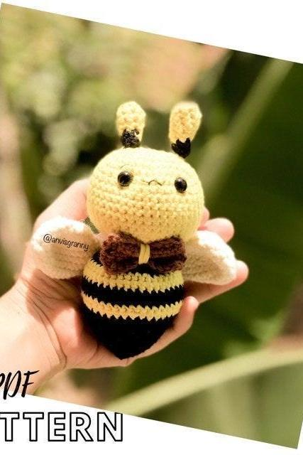 Chubby Bee amigurumi crochet pattern| Toy crochet tutorial (Printable PDF English)