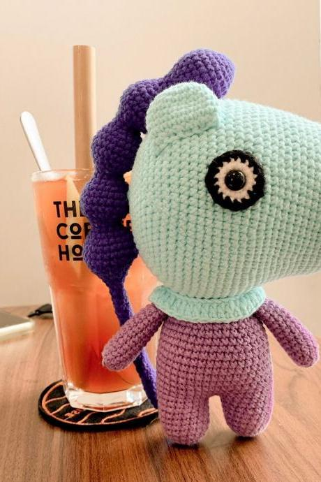 Mang BT21 Crochet pattern, BTS Bangtan Army Korean band customized doll - Amigurumi horse crochet pattern (English)