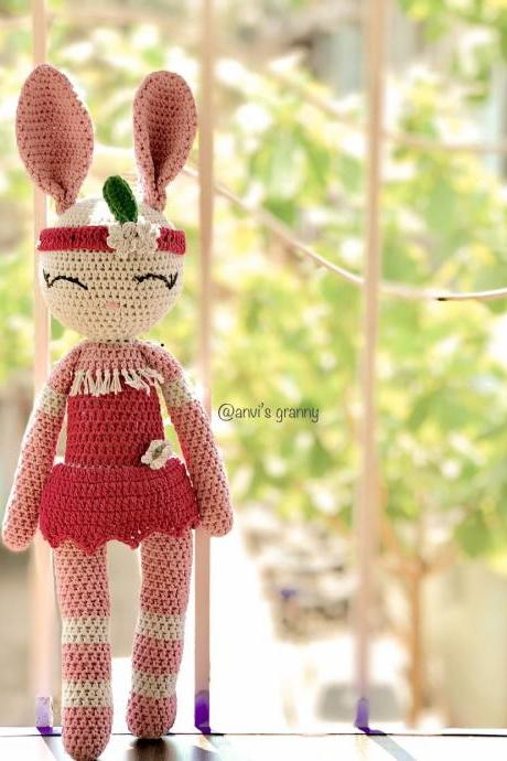 Bunny Amigurumi pattern - tribal bunny PDF crochet pattern - doll tutorial (English and French)