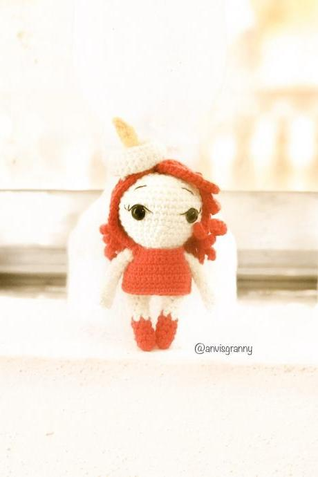 Amigurumi pattern #P16 - Liz the candle spirit doll| Handmade Christmas toy- Instant download crochet tutorial PDF (English)