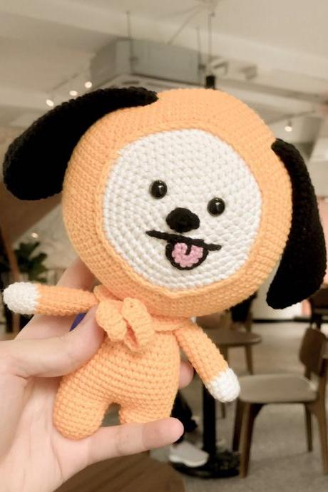 Chimmy BT21 amigurumi pattern, BTS Korean band customized crochet doll pattern, puppy crochet pattern (English)