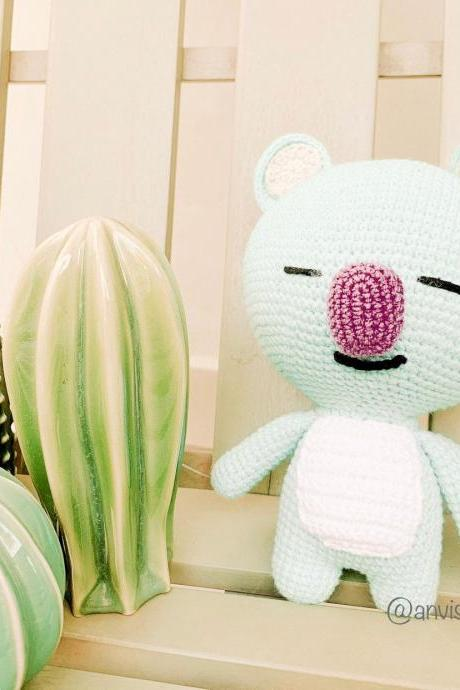 Koya BT21 Crochet pattern, BTS doll amigurumi pattern, Bangtan Army Korean band customized doll - kaola Amigurumi pattern (English)