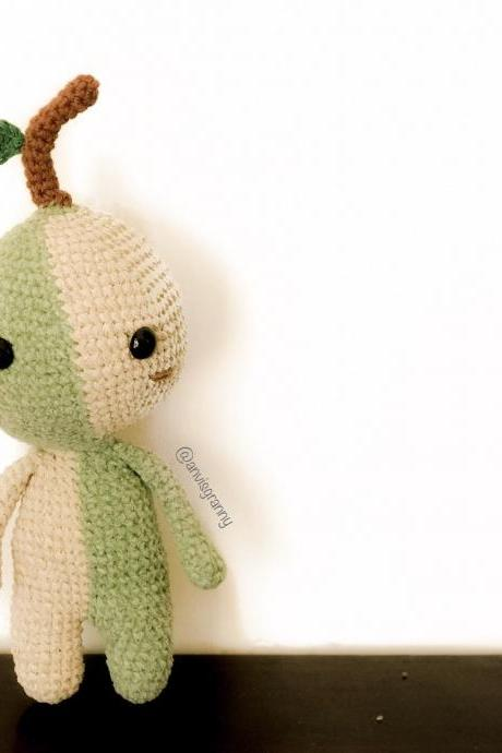 Green sprout amigurumi crochet pattern, cute tree amigurumi pattern, doll crochet pattern (English PDF file)
