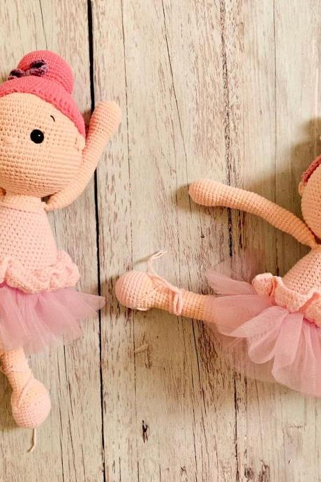 PDF Crochet Pattern Bundle 2in1 Ballerina Twins Amigurumi dolls, handmade baby girl doll tutorial