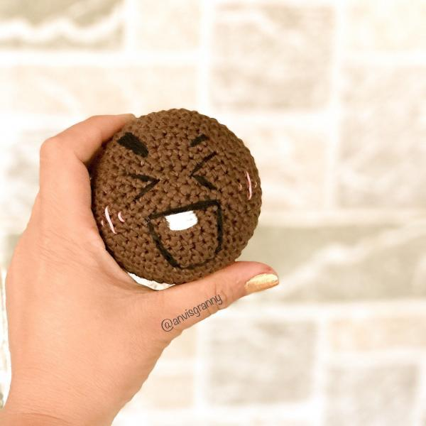 Ravelry: Chocochips Cookie Keychain pattern by Elfin Thread | 600x600